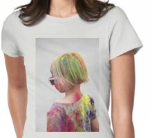 POWDERED! Holi Color Festival for All Ages!  Womens Fitted T-Shirt