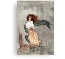 Cecily Watches Canvas Print
