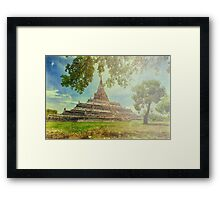 Temple on a sunny day painting look Framed Print