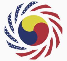 Korean American Multinational Patriot Flag Series 3.0 Baby Tee