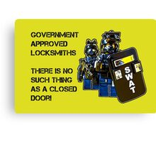 Government approved locksmiths! Canvas Print