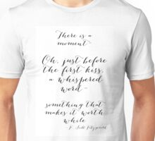 The moment before a kiss Unisex T-Shirt