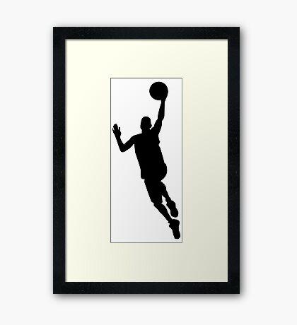 Basketball player Framed Print