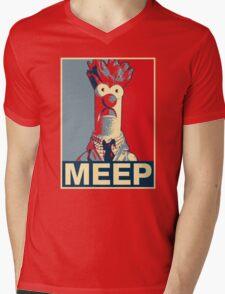 Beaker Meep Poster Mens V-Neck T-Shirt