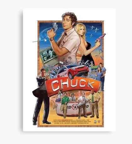 Funny Chuck TV Poster Canvas Print