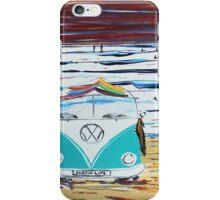 'SURFIN LIFE' VW Kombi Camper Van   iPhone Case/Skin