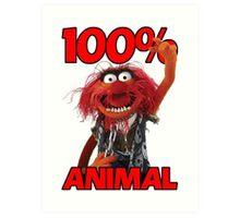 Muppets 100 Animal oder Geburtstagsgeschenk Art Print