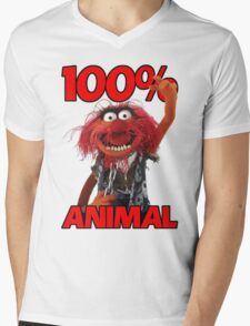 Muppets 100 Animal oder Geburtstagsgeschenk Mens V-Neck T-Shirt