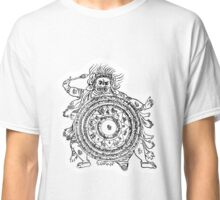 TamDin Buddhist Protective Charm Black on White Classic T-Shirt