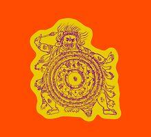 TamDin Buddhist Protective Charm purple on gold Unisex T-Shirt