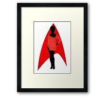 Star Trek - Silhouette Uhura Framed Print