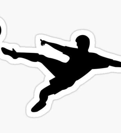 Soccer horizontal shot silhouette Sticker