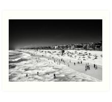 Swimming Manhattan Beach - California USA Art Print