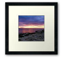 Sunrise over Delimara Malta Framed Print