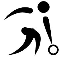 Olympic sports bowling pictogram Photographic Print