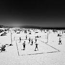 Volleyball Manhattan Beach - California USA by Norman Repacholi