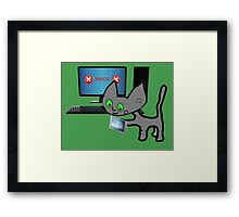 Tech Cat Framed Print