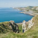 Jurassic coast from St Aldhelm's head by Jim Hellier