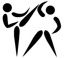 Olympic sports taekwondo pictogram Photographic Print