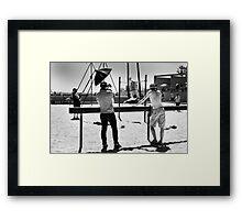 B roll to the A roll - Venice Beach California USA Framed Print