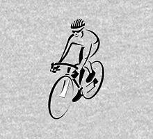 Riding a bicycle art Unisex T-Shirt