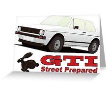 GOLF Ⅰ GTI part 2 Greeting Card