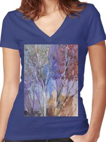 Enter these enchanted woods Women's Fitted V-Neck T-Shirt
