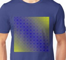 Green and blue floral pattern Unisex T-Shirt