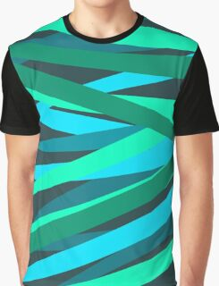 Turquoise Wave Graphic T-Shirt