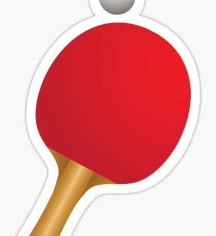 Table tennis bat and ball Sticker