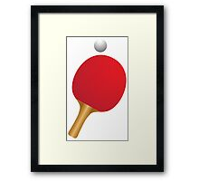 Table tennis bat and ball Framed Print