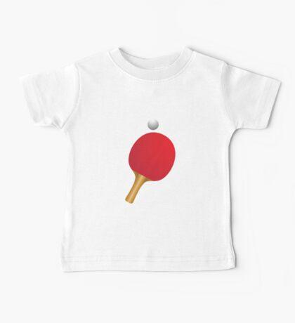 Table tennis bat and ball Baby Tee