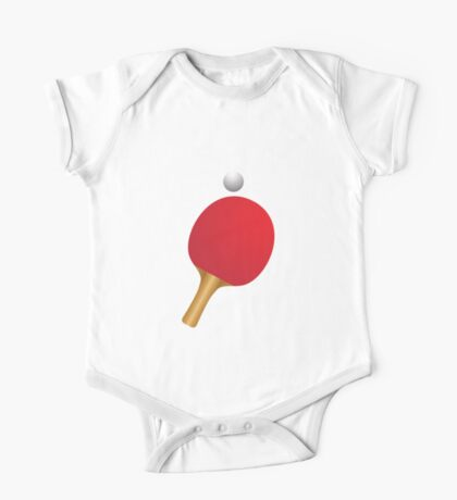 Table tennis bat and ball One Piece - Short Sleeve