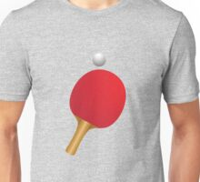 Table tennis bat and ball Unisex T-Shirt