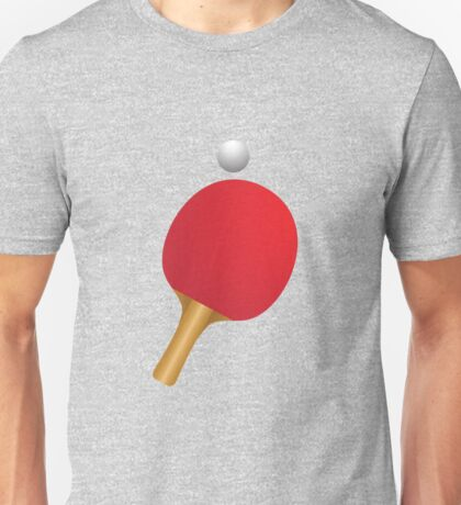 Table tennis bat and ball Unisex T-Shirt