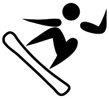 Olympic sports snowboarding pictogram Photographic Print