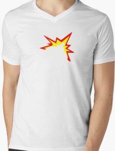 Bomb White Mens V-Neck T-Shirt