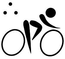 Olympic sports triathlon pictogram Photographic Print