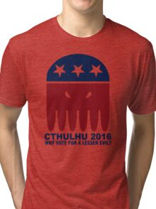 Vote Cthulhu Squid 2016 Tri-blend T-Shirt