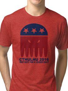 Vote Cthulhu Squid 2016 Tri-blend T-Shirt