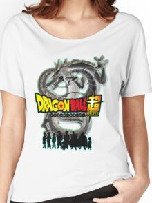 Dragon Ball Super w/ Character Silhouettes  Women's Relaxed Fit T-Shirt