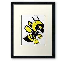 Fighting bee Framed Print