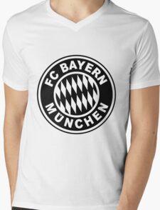 FC Bayern Munich Black Mens V-Neck T-Shirt