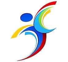 Sport logo design Photographic Print