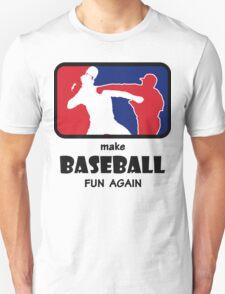 The Punch make baseball fun again black T-Shirt