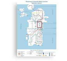 Azeroth - Kalimdor Routemap Canvas Print