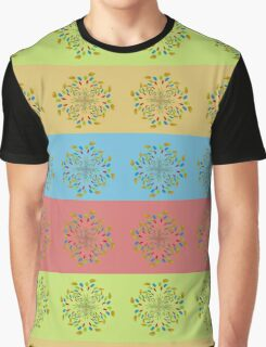 Colorful floral pattern Graphic T-Shirt