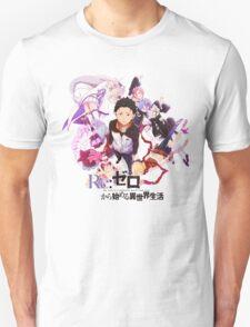 ReZero kara Hajimeru Isekai Seikatsu Anime Icon Unisex T-Shirt