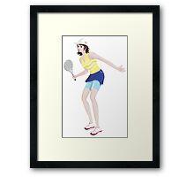 Girl playing tennis sport Framed Print
