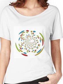 Colorful abstract pattern Women's Relaxed Fit T-Shirt